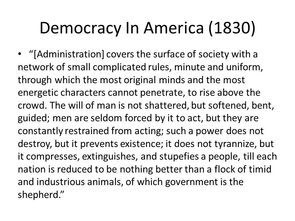 Democracy In America (1830)