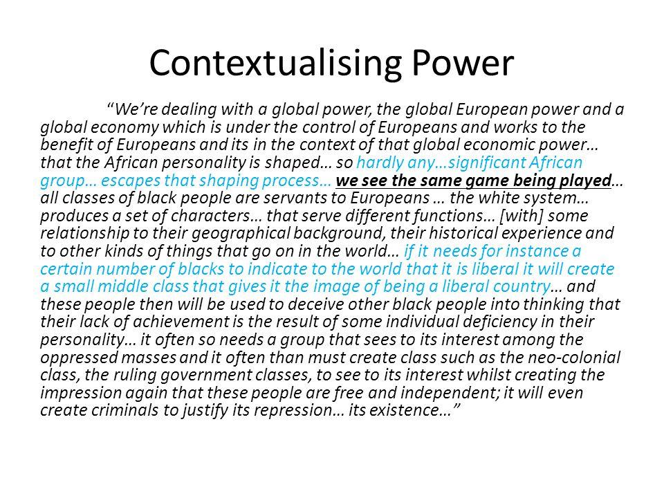 Contextualising Power