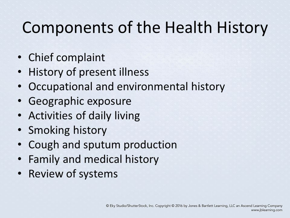 Components of the Health History