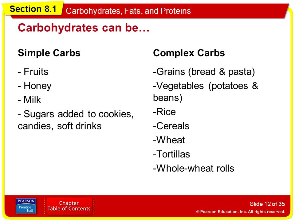 Carbohydrates can be… Simple Carbs Complex Carbs