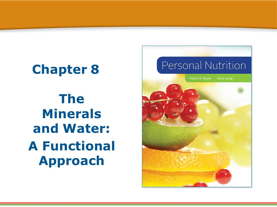 the functions of water and minerals Chapter 08: practice quiz: water and minerals 1 in general, calcium which of the following statements regarding the functions of water in the body is false a.