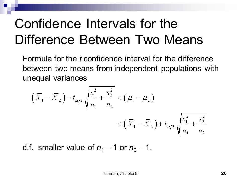 confidence interval and hypothesis testing relationship between two