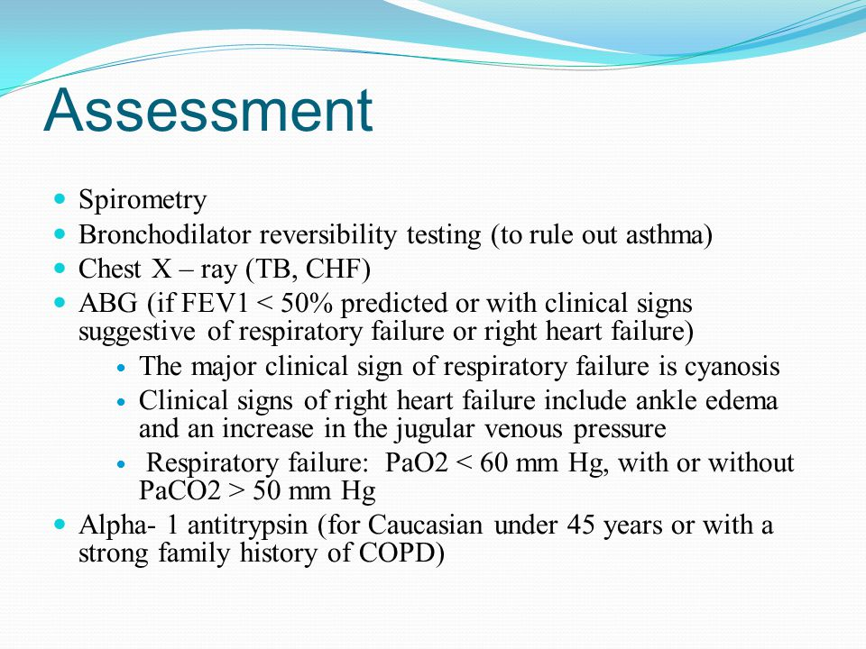 Assessment Spirometry