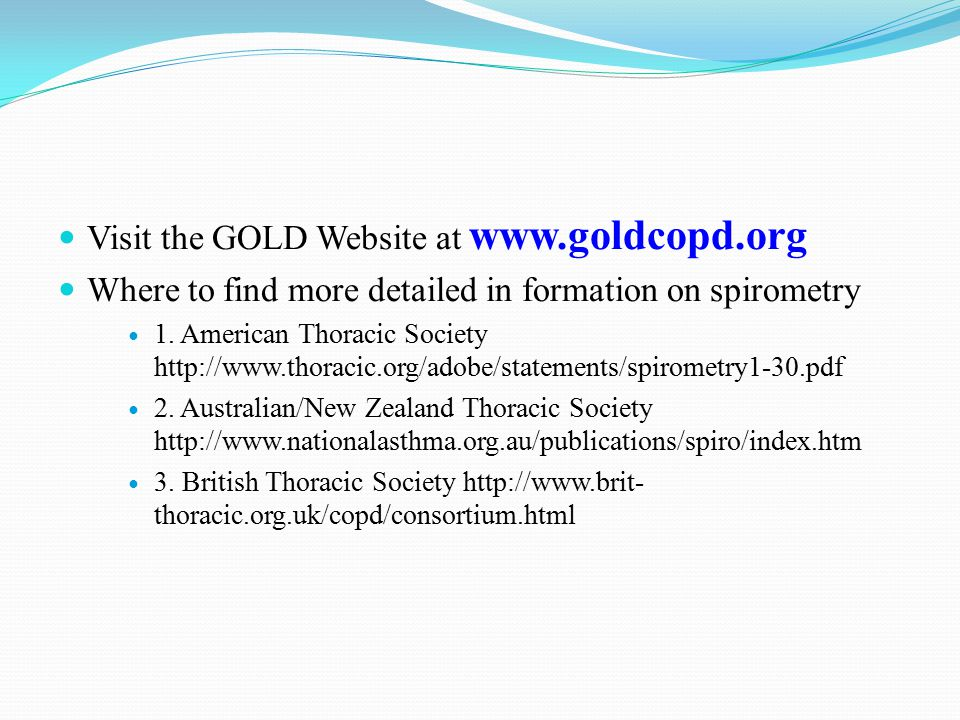 Visit the GOLD Website at