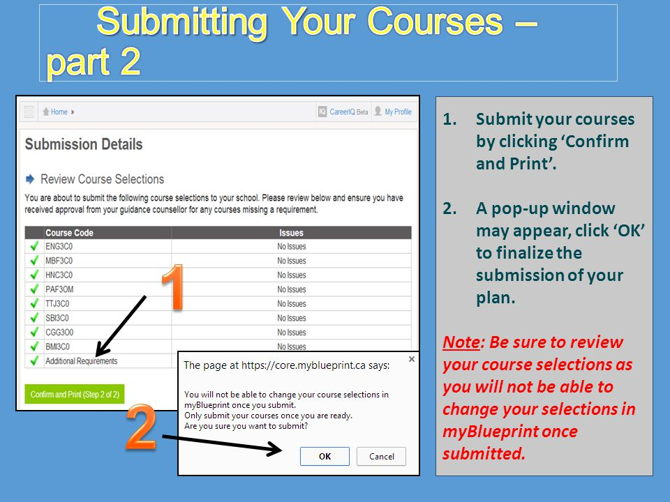 Submitting Your Courses – part 2