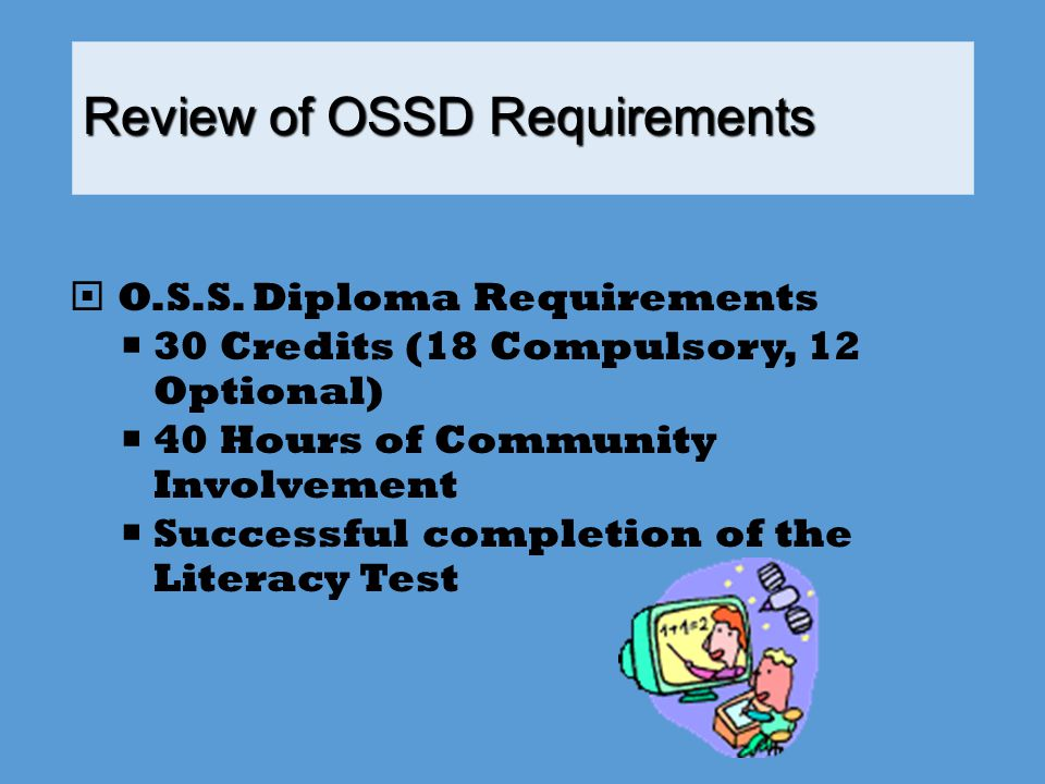 Review of OSSD Requirements