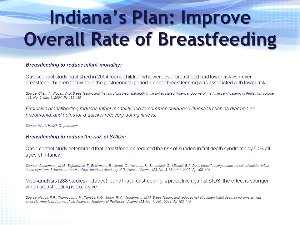 proposal to increase breastfeeding rates in Breastfeeding education for increased breastfeeding duration exclusive breastfeeding rate and duration of breastfeeding education for increased breastfeeding.