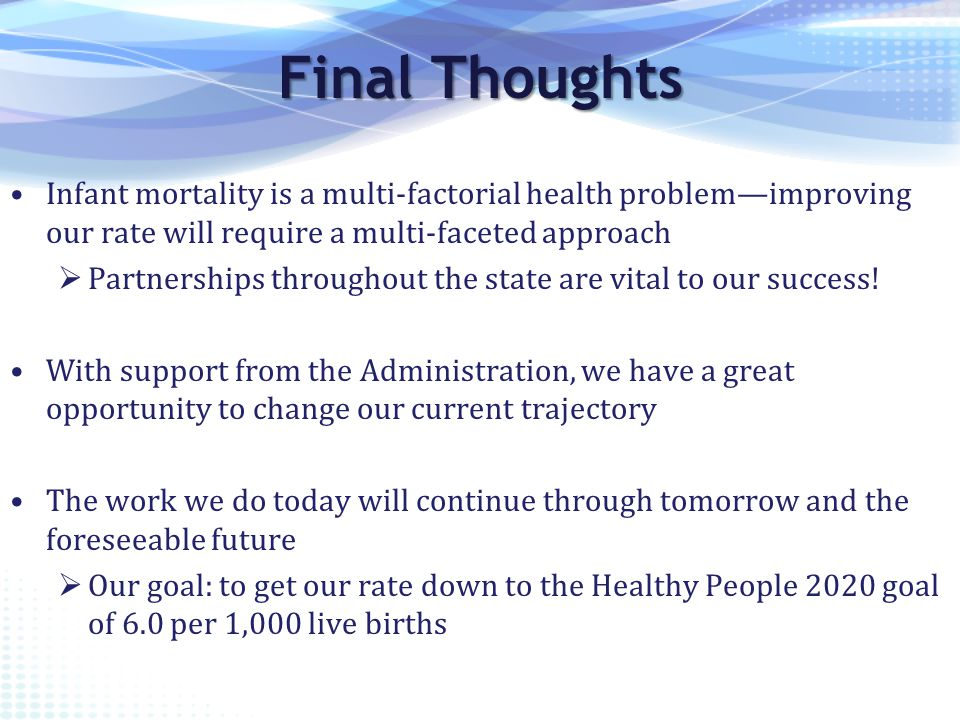 Indiana s plan to reduce infant mortality ppt video online download for Healthy people 2020 is a plan designed to
