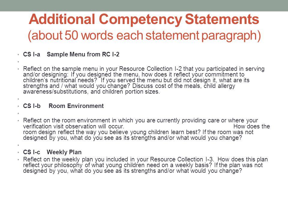 competency statement ii Reflective competency statement i csi reflective competency statement ii cs ii resource collection reflective competency statement iii.