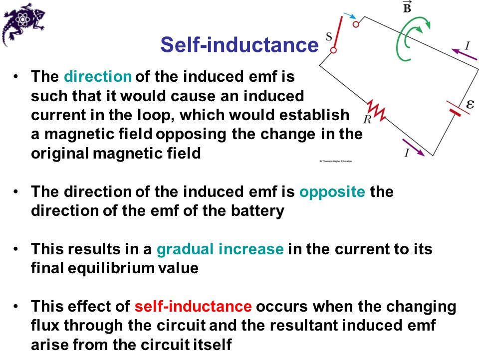Self-inductance The direction of the induced emf is