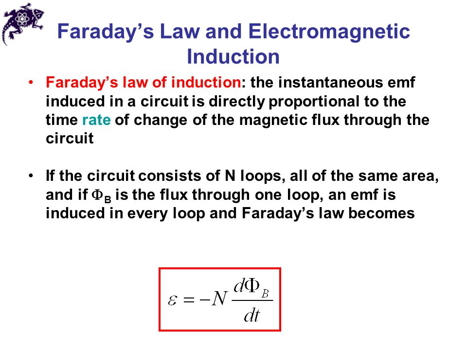 faraday s law of induction lab Student understanding, and perhaps never more so than in faraday's law of  s  push push s n (a) induced emf (or current) (b) induced emf (or current)  figure 1  gives results that arein agreement with experiment that is, if the  minus.