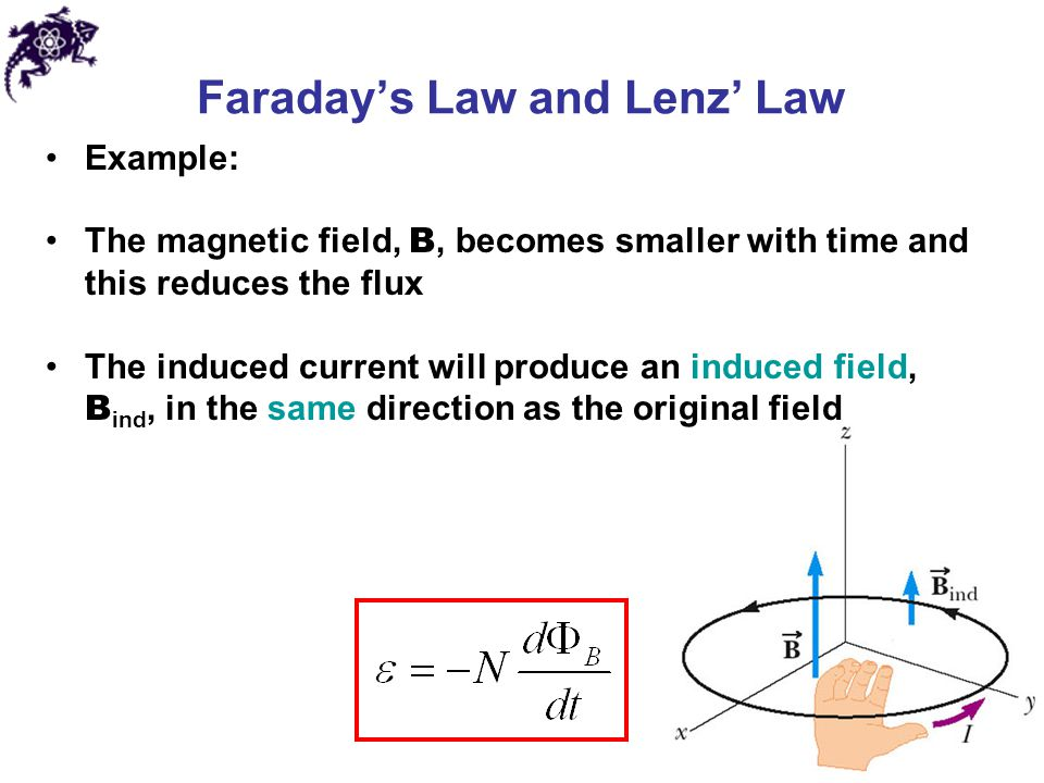 lenz s law and faraday s law of Through a series of experiments in 1831 michael faraday came to the  two years later, heinrich lenz formulated lenz's law, which characterizes the direction.