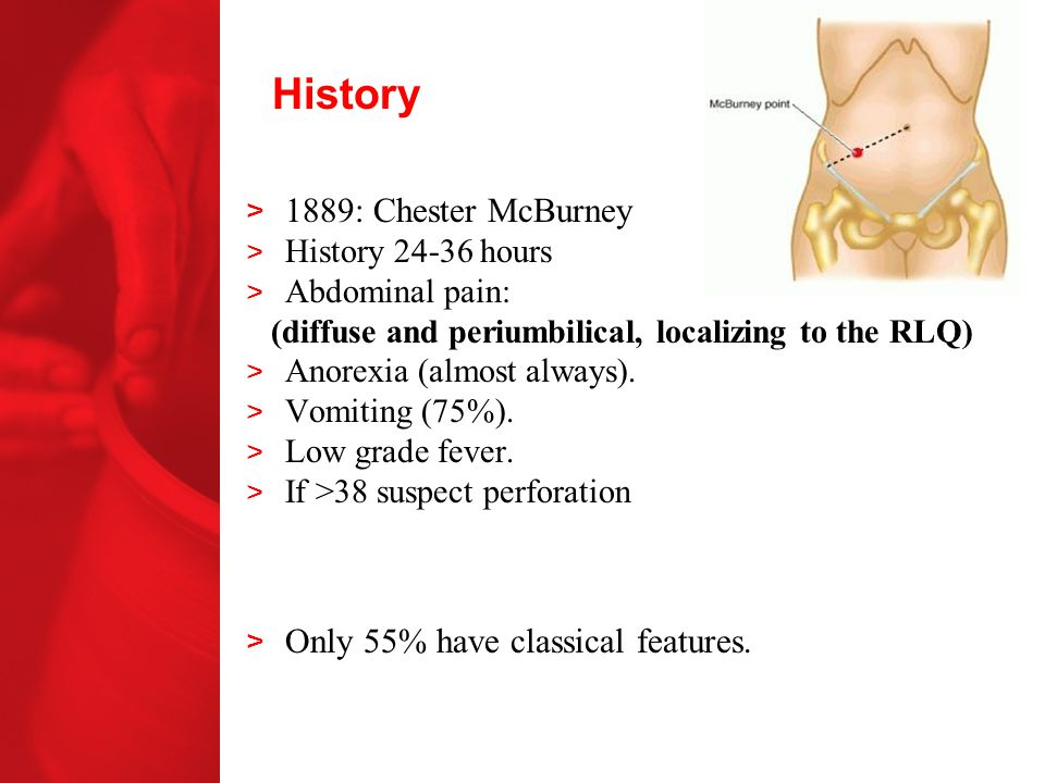 History 1889: Chester McBurney Only 55% have classical features.