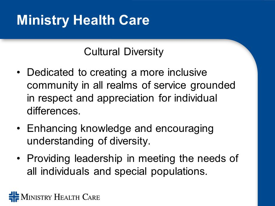 cultural diversity in health care Signature leadership series becoming a  reduce health care disparities and promote diversity in health  cultural competence in health care describes the.