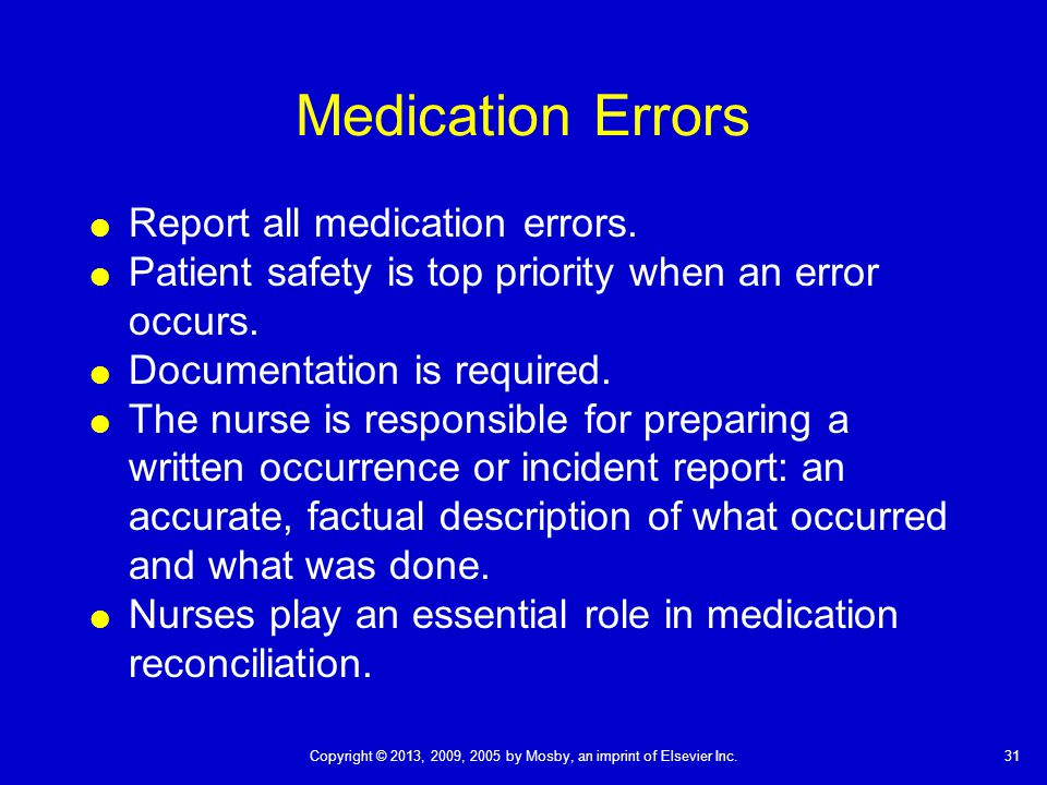Nursing research paper on medication error