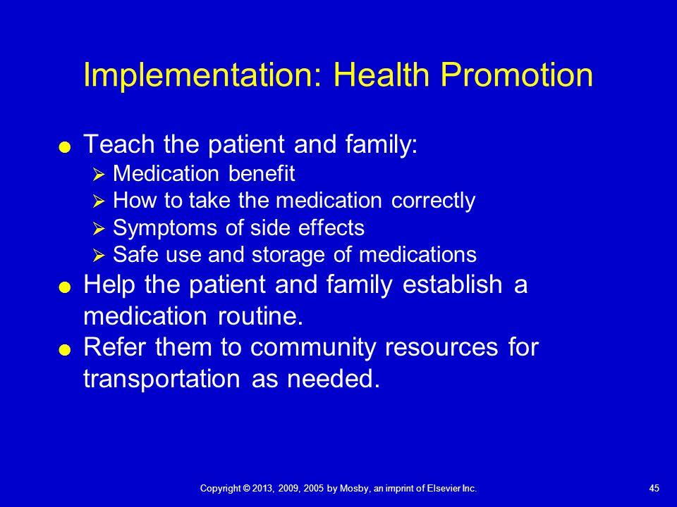 implementation methods of health promotion Strategies and methods of health promotion authorities and health trusts health promotion unit and in the planning and implementation of their health.