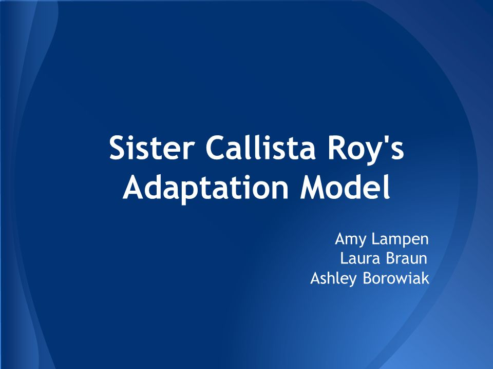 example of roy adaptation model