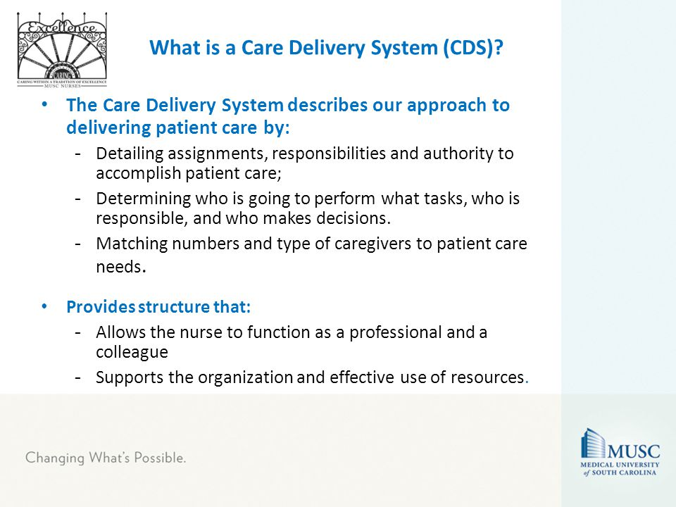 types of nursing care delivery systems essay Their quest for answers has led to a number of innovative solutions, including new health care delivery models that are redefining the role of nursing in many cases, nurses have gone beyond the role of caregivers to become key integrators, care coordinators and efficiency experts who are redesigning the patient experience.