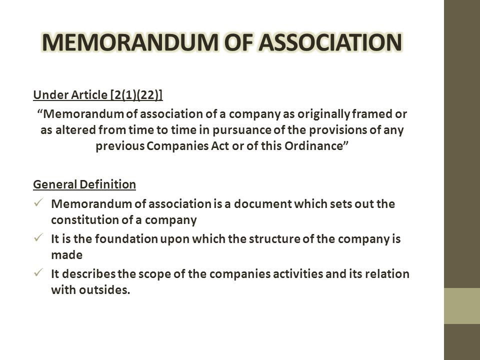 "memorandom articles of association of These articles of association as amended from time to time ""board"" the board of directors for the time being of the company or the directors of the company present at a duly convened meeting of directors at which a quorum is present or any of them acting as the board of directors in accordance with these articles."