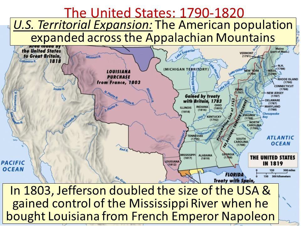 the expansionism of united states from 1790s up to 1860s Start studying apush unit 6 learn is true about immigration to the united states during the last two decades of emancipated in the 1780s and 1790s.