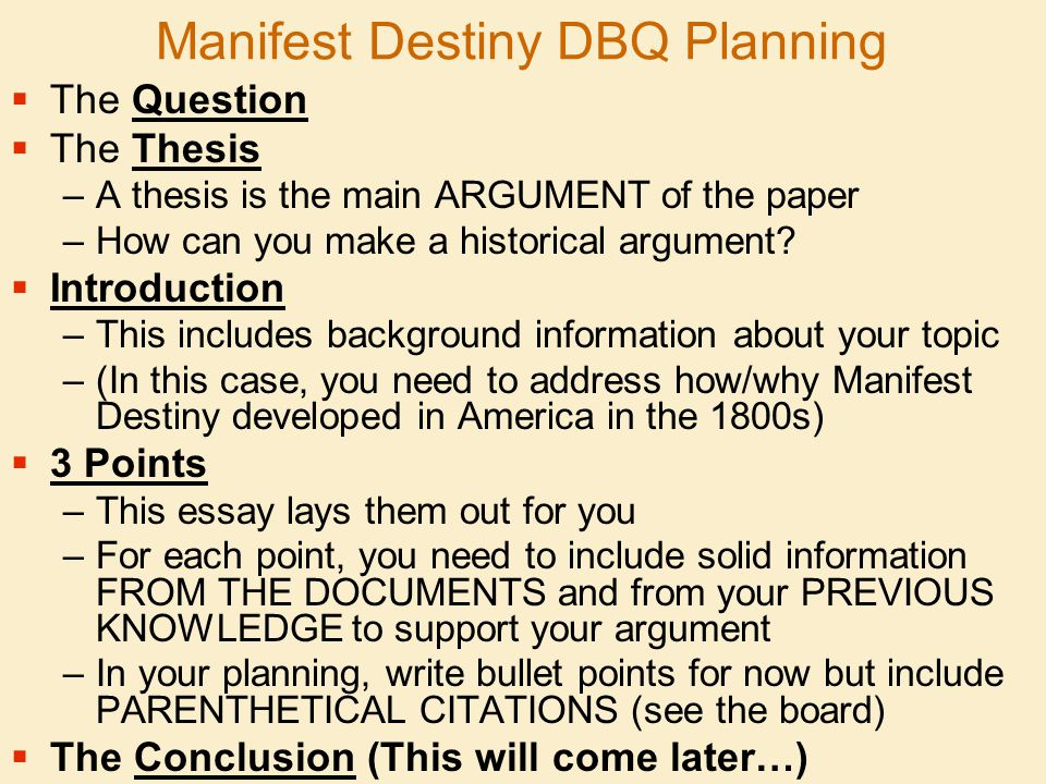 how to write a manifest