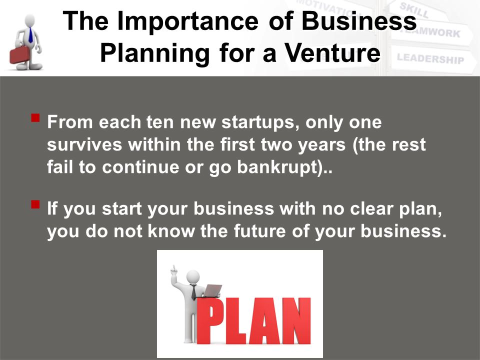 the importance of a business plan essay Business direction allows you to plan for a course of action you will take to accomplish your goals planning how you accomplish them is a valuable exercise for your business growth and development as you plan you will put together a course of action this.