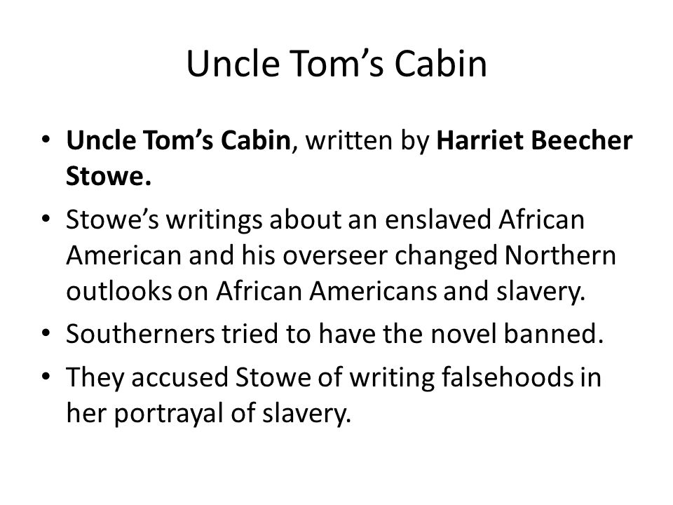 Uncle Tom's Cabin Quotes