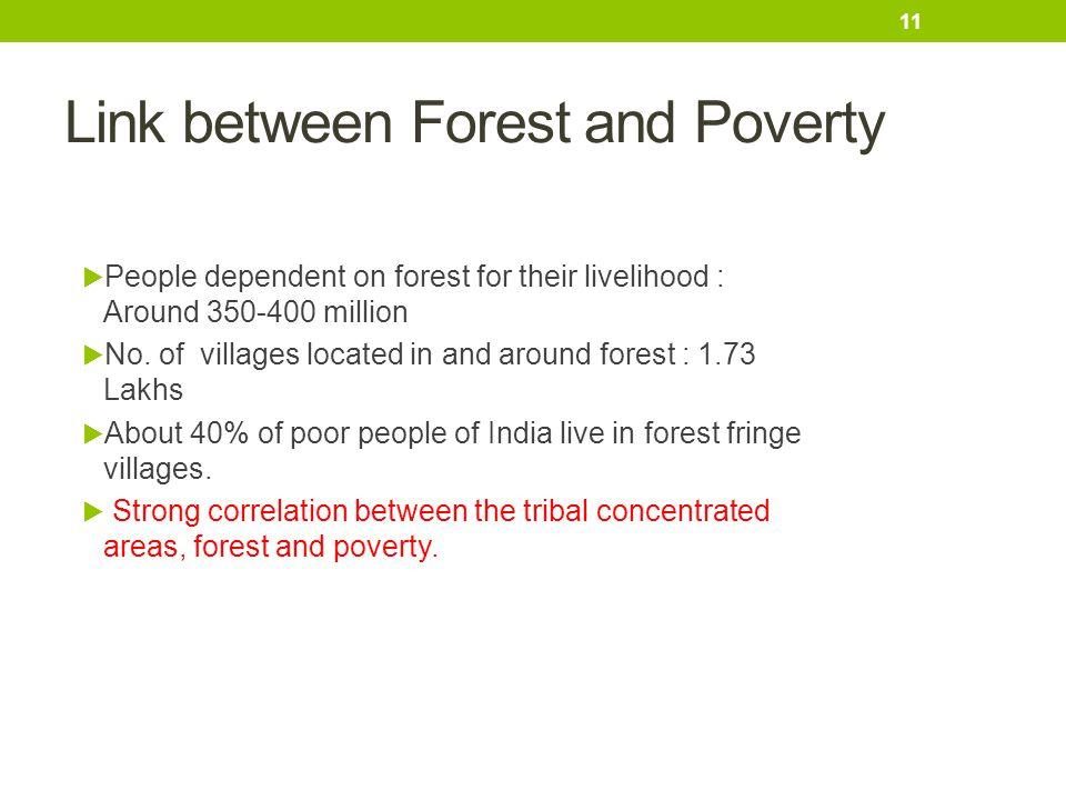 Link between Forest and Poverty