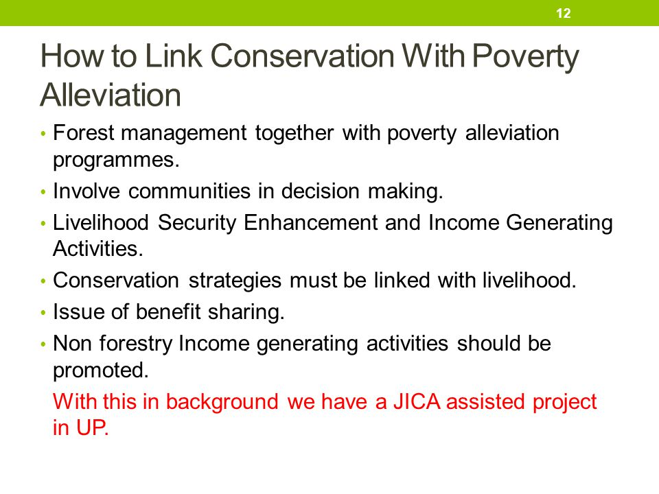 How to Link Conservation With Poverty Alleviation