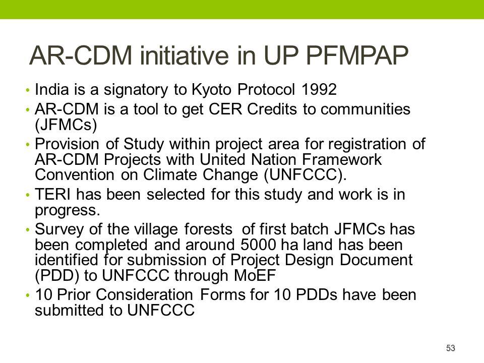 AR-CDM initiative in UP PFMPAP
