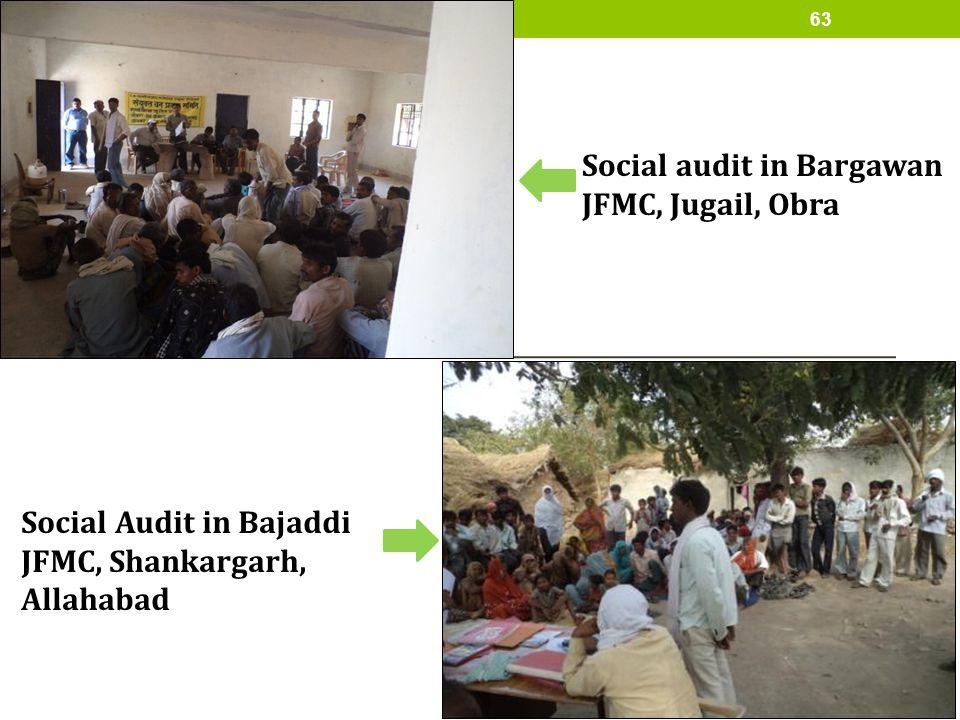 Social audit in Bargawan JFMC, Jugail, Obra