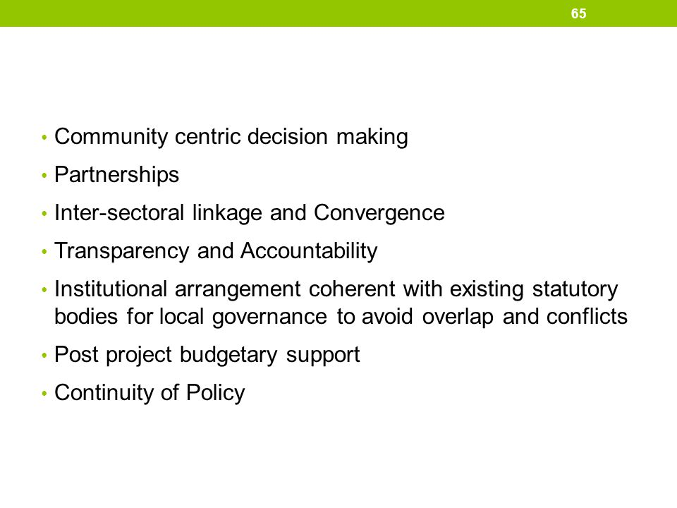 Community centric decision making