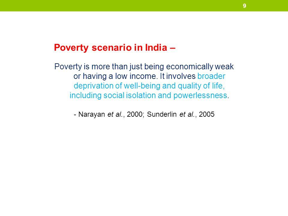 - Narayan et al., 2000; Sunderlin et al., 2005