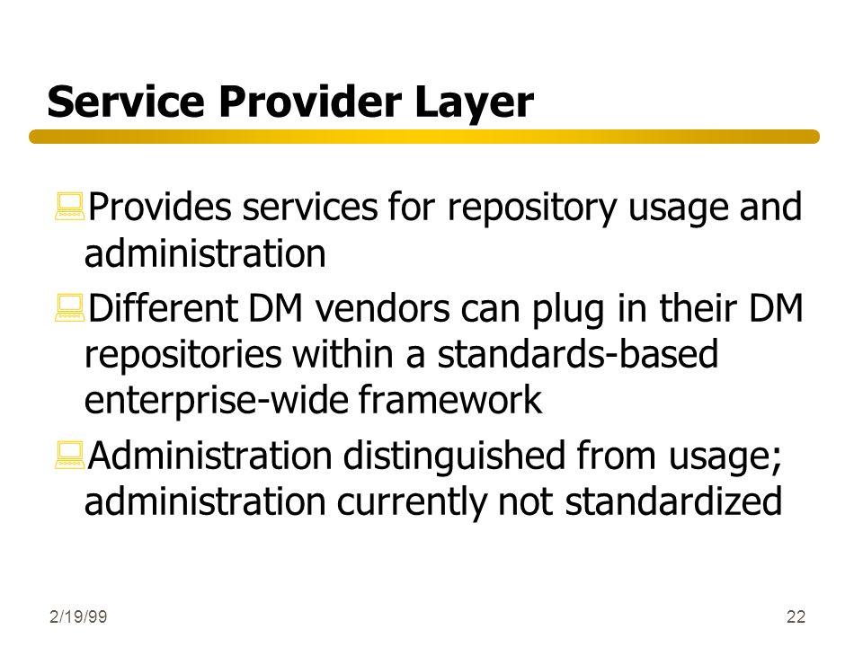 Service Provider Layer