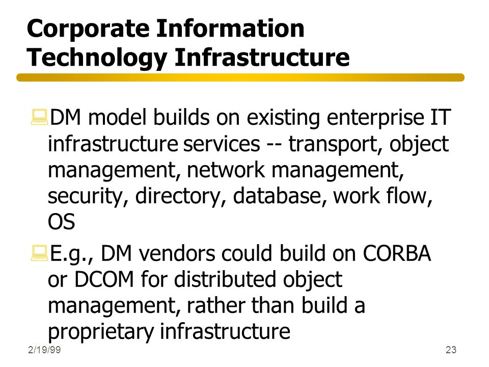 Corporate Information Technology Infrastructure