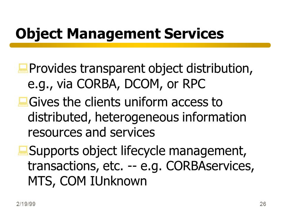 Object Management Services