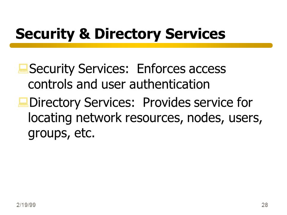 Security & Directory Services