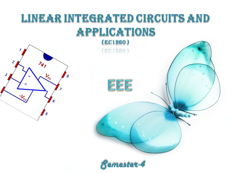 LINEAR INTEGRATED CIRCUITS AND APPLICATIONS (EC1260 )