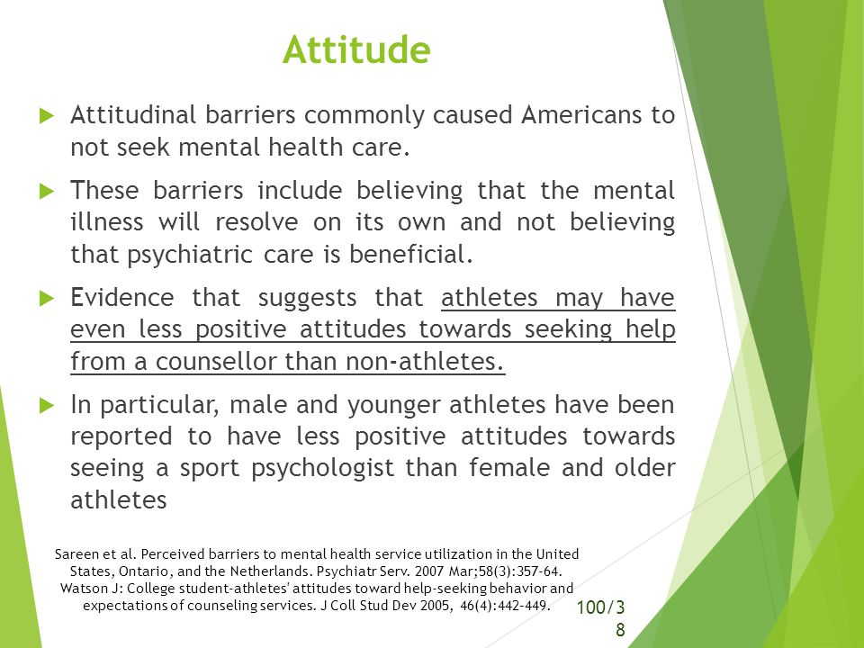 attitudes of college students toward mental College student-athletes' attitudes toward help-seeking behavior and expectations of counseling services joshua c watson  abstract this study compared the attitudes toward help-seeking behavior and expectations about counseling of 135 college student-athletes and 132 nonathletes in an attempt to identify significant.