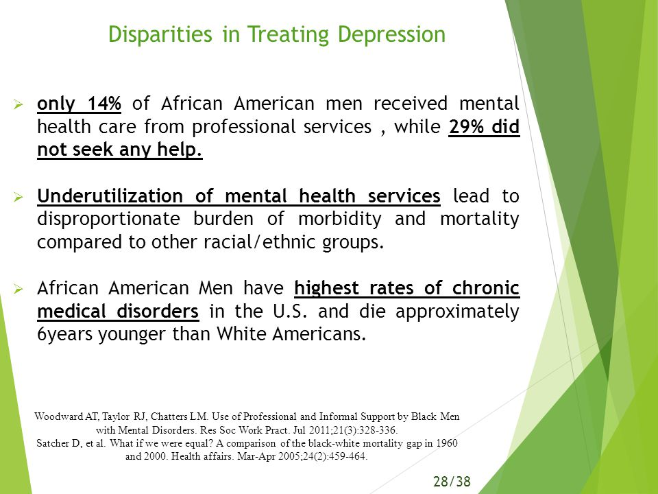 The Mental Health Services For African Americans Essay