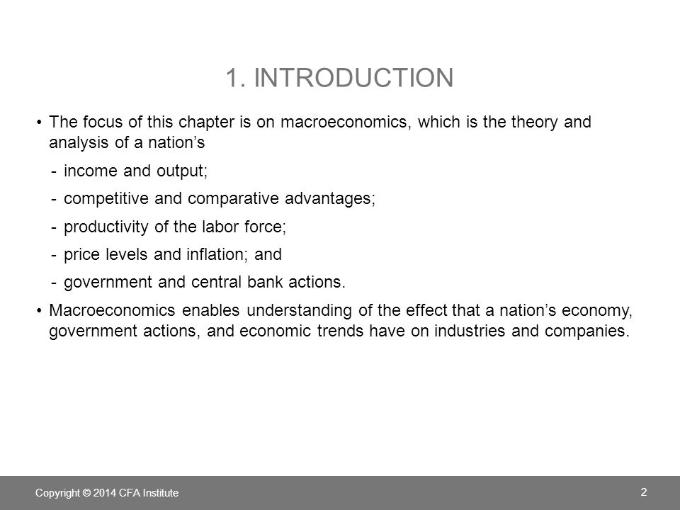 1. Introduction The focus of this chapter is on macroeconomics, which is the theory and analysis of a nation's.