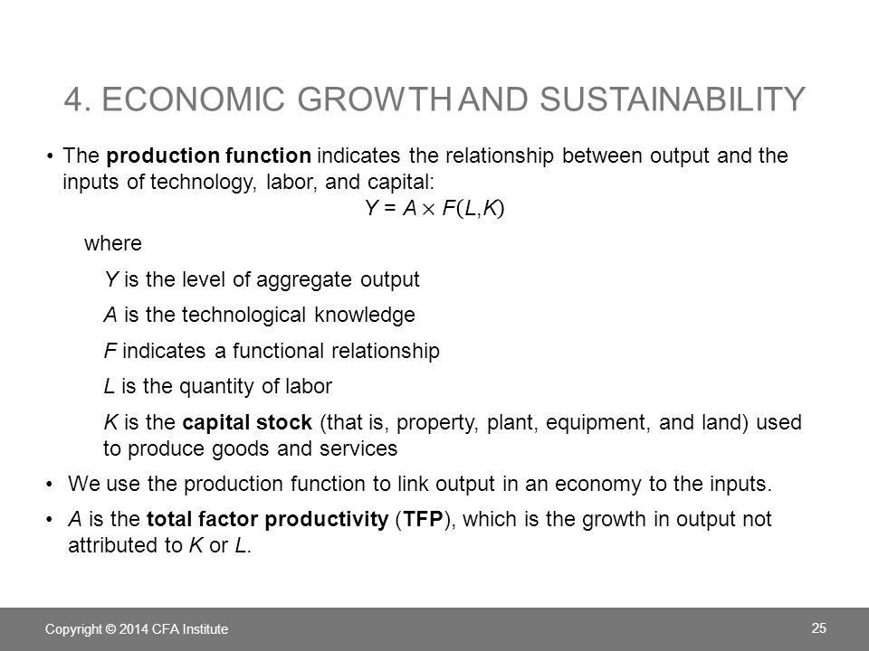 4. Economic growth and sustainability