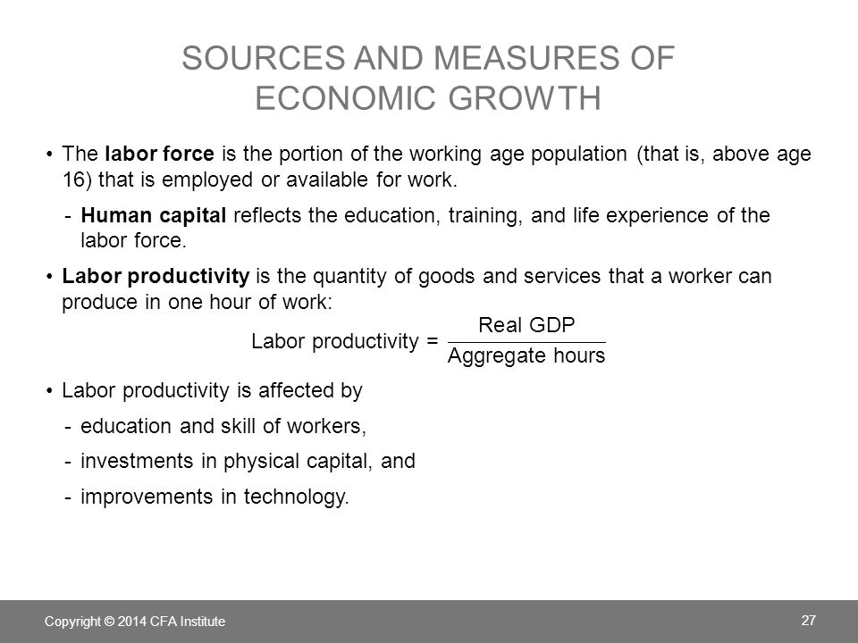 Sources and Measures of Economic growth