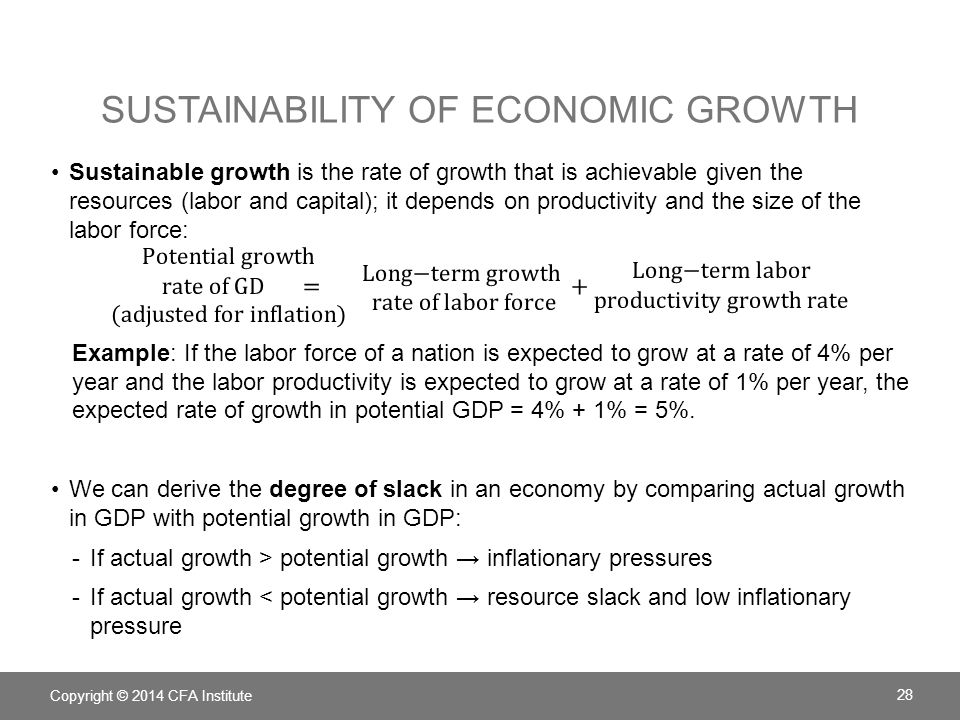 Sustainability of Economic growth