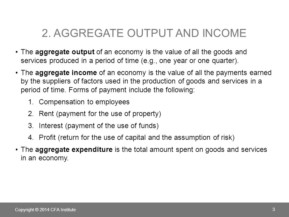 2. Aggregate output and income