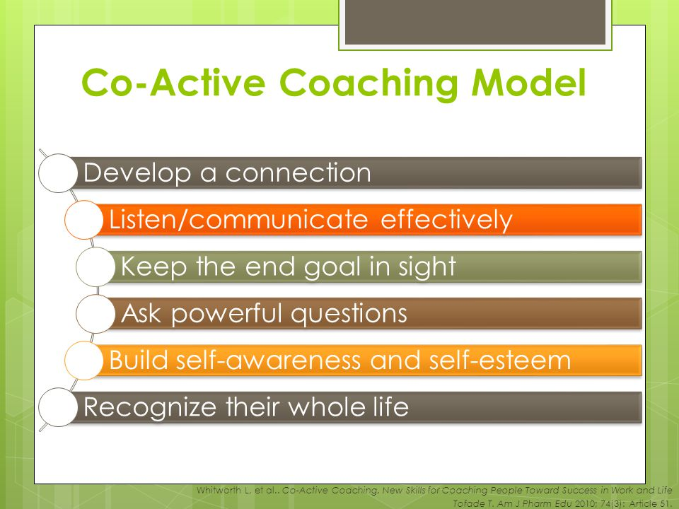 model ppt co-active coaching