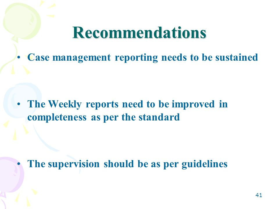 recommendations to management Common audit findings and recommendations rose blakely, cpa president curtis blakely & co pc • a supervisor or management should be responsible for.