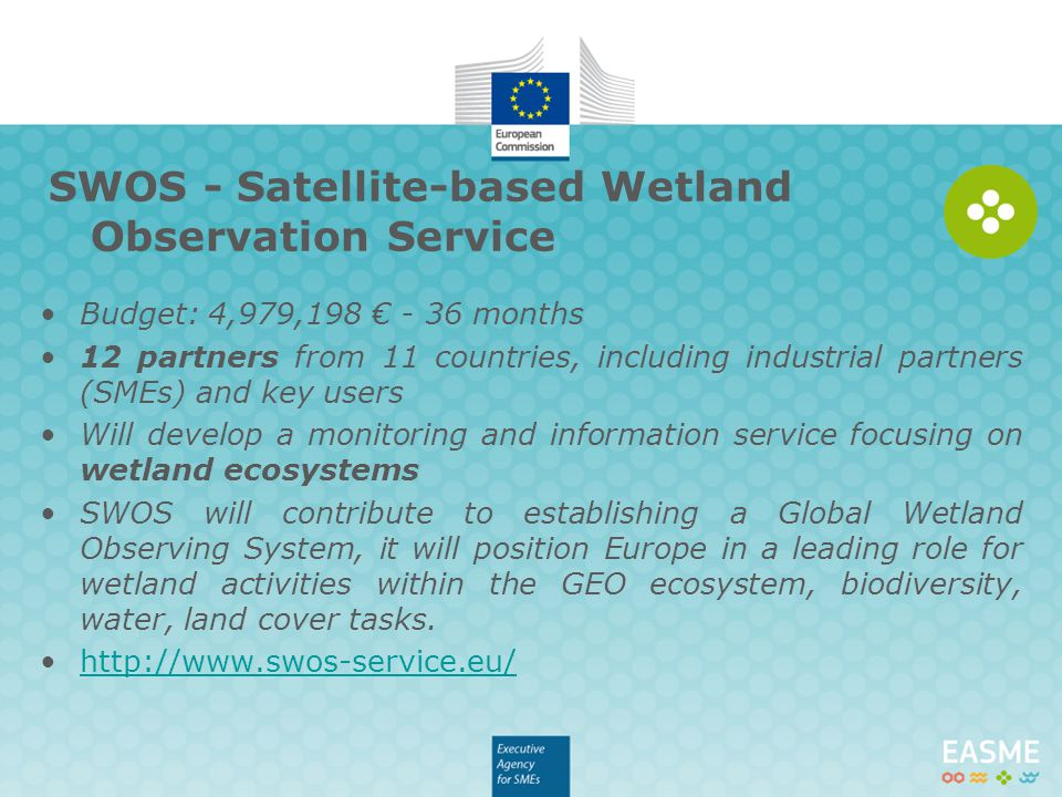 SWOS - Satellite-based Wetland Observation Service