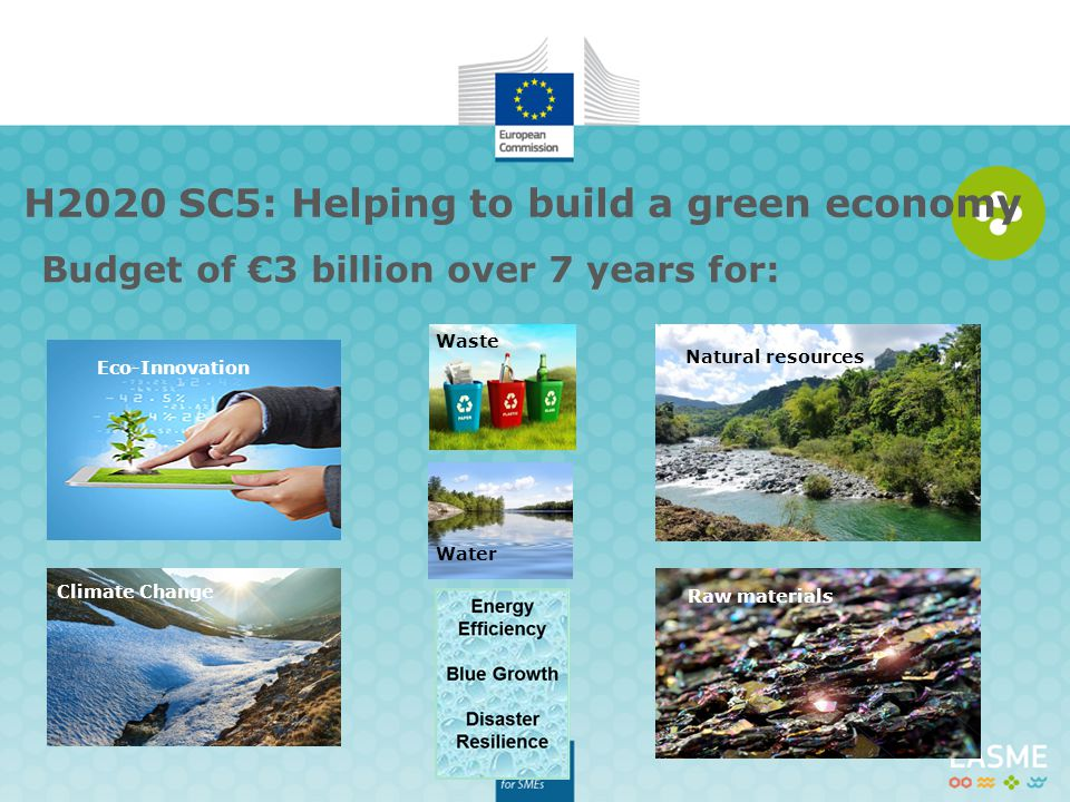 H2020 SC5: Helping to build a green economy