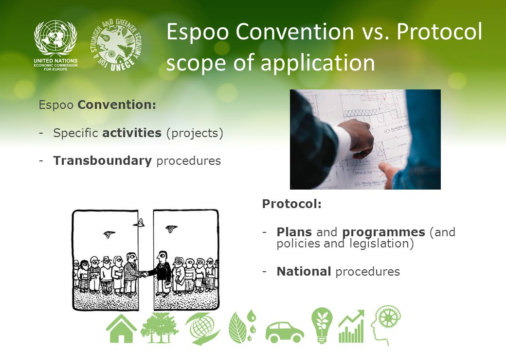 Espoo Convention vs. Protocol scope of application